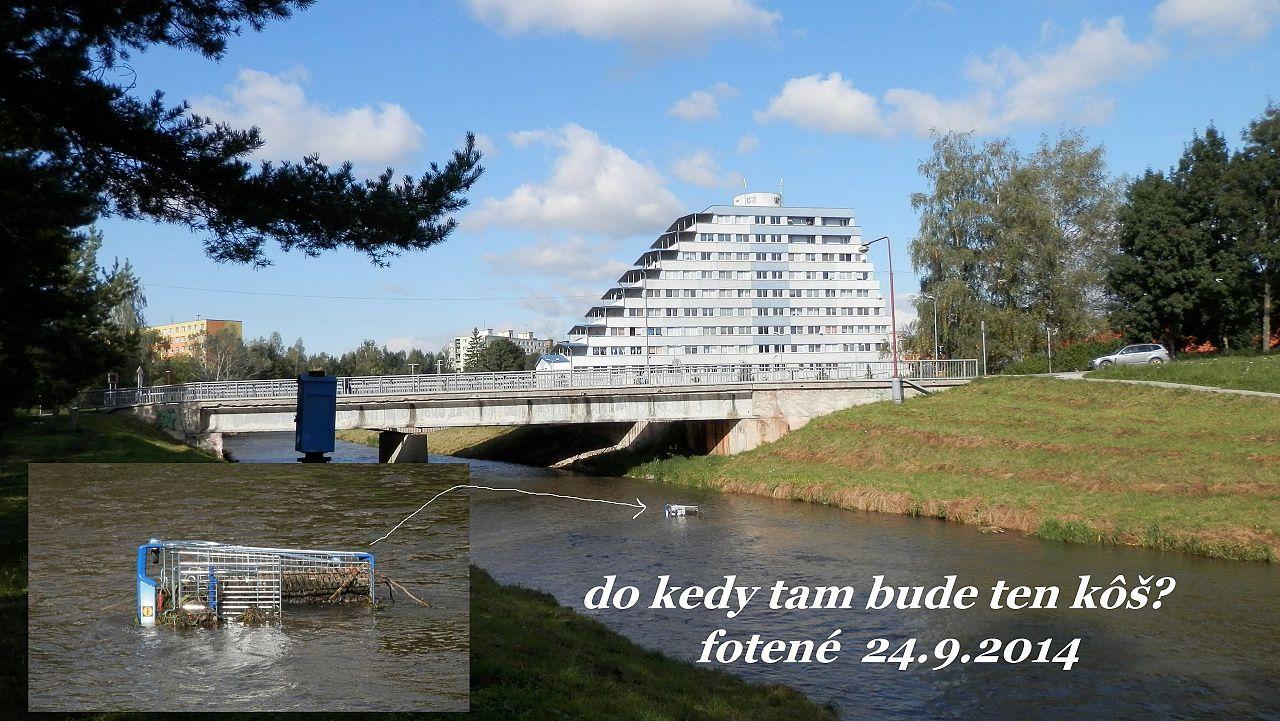 3ce9261da Nákupný vozík v rieke Hornád, Mesto - Sever a Telep, Spišská Nová ...