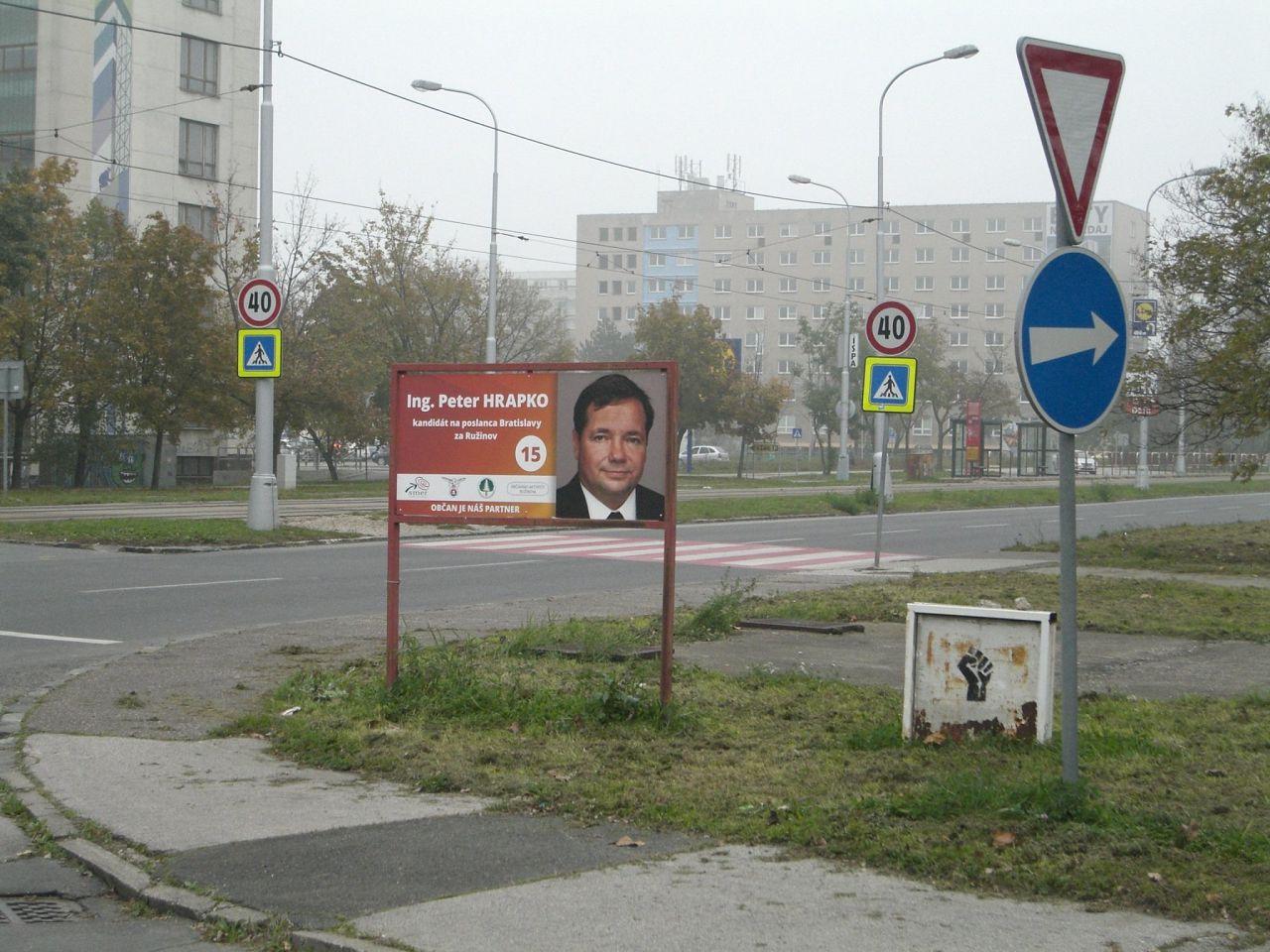 52a3201b6 Nepovolené reklamné nosiče (podozrenie) - reklamný smog, Ružinov ...