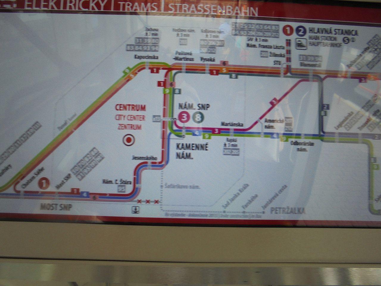 Neaktualna Mapa Mhd V Novych Elektrickach Stare Mesto Bratislava