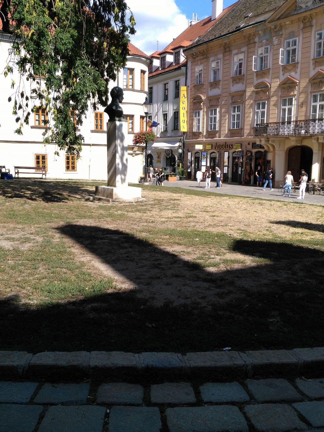 41114dec7 Vyschnutý trávnik Rudnayovo námestie, Staré Mesto, Bratislava ...