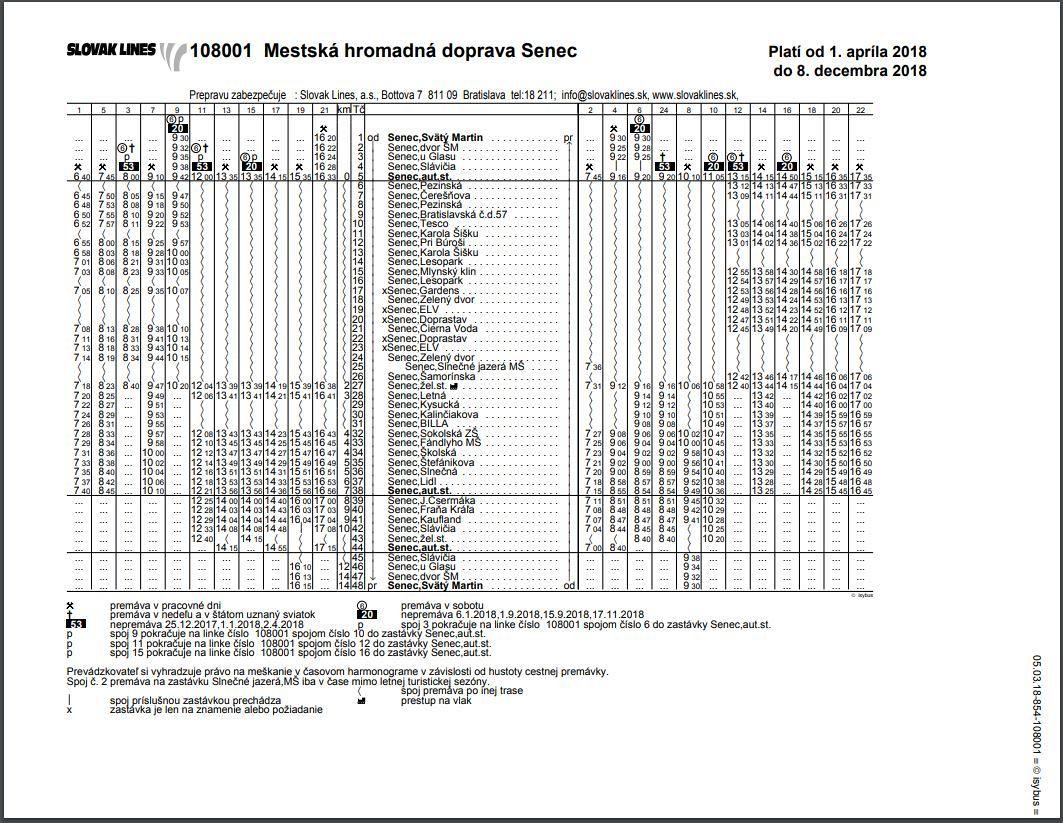 40c5390c2 Nový cestovný poriadok MHD Senec, , Senec | Odkazprestarostu.sk